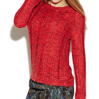 Holey Raglan Sleeve Sweater | Wet Seal