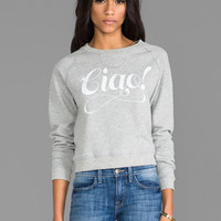Junk Food Ciao! Pullover in Stone Heather