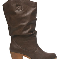 Faux Leather Cowboy Boot | Wet Seal