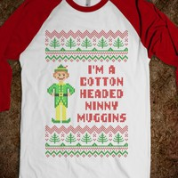 Cotton Headed Ninny Muggins Funny Elf Christmas Sweater T Shirt