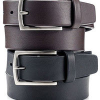 Perry Ellis Belt, Leather Casual Belt