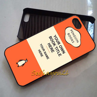 Personalized Penguin Books Cover Orange iPhone 5C Case, iPhone 5S/5 Case, iPhone 4S/4 Case, Samsung Galaxy S3/S4, Premium Case Cover