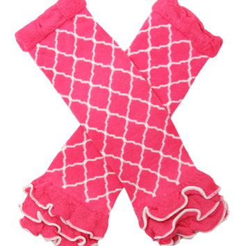 Kutsie Baby Hot Pink Waverly Legwarmers with Ruffles