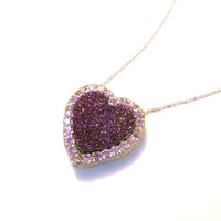CYBER-SALE Sparkling Druzy and austrian crystal Necklace