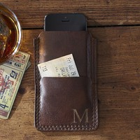 SADDLE LEATHER PHONE CASE