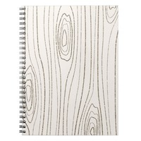 Glitter Woodgrain Journal