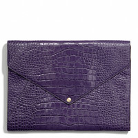 LEGACY ENVELOPE IPAD CASE IN CROC EMBOSSED LEATHER
