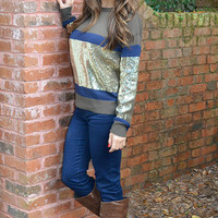 Sparkles And Stripes Sweater: Multi