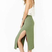 Nasty Gal Double Edge Midi Skirt