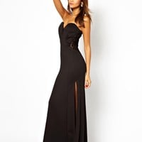 TFNC Maxi Dress With Fishtail And Lace Insert