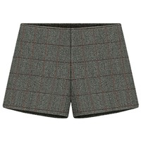 Plaid Wool-blend Shorts