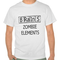 Zazzle Unisex Brains Zombie Elements Tee