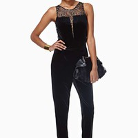 Holiday Ready Velvet Jumpsuit