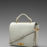 Marc by Marc Jacobs Goodbye Columbus Croc in White Birch