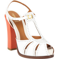 Colorblock Perforated Sandal