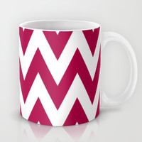 Team Spirit Chevron Red and White Mug by Team Spirit ALSO CASES, PRINTS, SKINS, AND TOTES!...