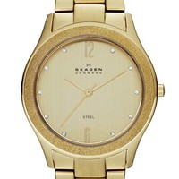 Skagen Crystal Brushed Bezel Bracelet Watch, 38mm | Nordstrom