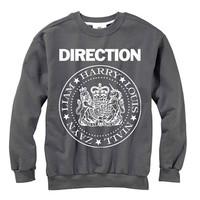 One Direction Ramones Sweatshirt | 1D Ramones Logo Original Print on Soft Sweatshirt