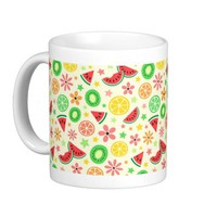 Summer fruit - melon lime lemon kiwi fresh pattern