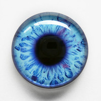 30mm handmade glass eye cabochon - blue eye