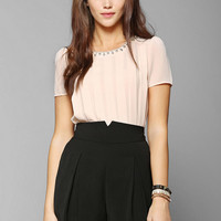 Pins And Needles Pleat-Front Short - Urban Outfitters