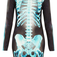 X- Ray Skeleton Bodycon Dress