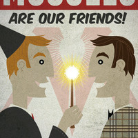 Muggles Are Our Friends  11x17 Poster Print by blimpcat on Etsy