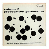 "Josef Albers record album design, 1960. ""Provocative Percussion, Vol. 2"" LP"