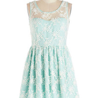 Lily of the Valley Dress in Mint
