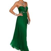 Kamila-Emerald Homecoming Dress