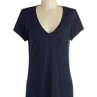 Simply Styled Top in Navy | Mod Retro Vintage Short Sleeve Shirts | ModCloth.com