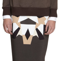 Geometric Patchwork Skirt