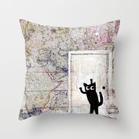 secret door Throw Pillow by Marianna Tankelevich