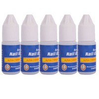 5 Pcs Professional 3g/Bottle Acrylic Nail Art Glue For French False Tips Rhinestones Manicure Tools
