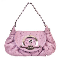 Christian Dior Jess Club Lavender Ostrich Bag