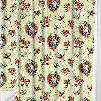Lost Love Tattooed Shower Curtain