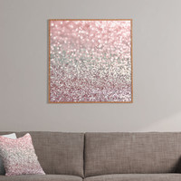 Lisa Argyropoulos Girly Pink Snowfall Framed Wall Art