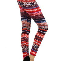 Hacci Printed Fleece Leggings - Tempt Boutique