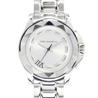 Karl Lagerfeld Round Stainless Steel Watch