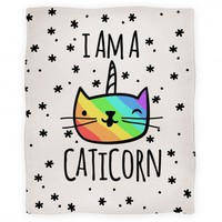 I Am A Caticorn Blanket