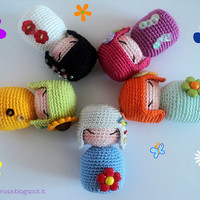 Amigurumi Crochet Pattern: Spring Kokeshi (ENGLISH version) - Instant digital download PDF
