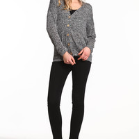 STATIC HEATHER KNIT CARDIGAN