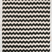Zig-Zag 5x7 Rug in Black at Urban Outfitters