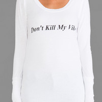 Rebel Yell Vibe Skinny Tee in White