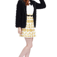 ROMWE | Romwe Faux Fur Hooded Long-sleeved Black Coat, The Latest Street Fashion