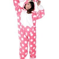 Rnmomo Unisex-Adult Kigurumi Cute Dot Minnie Pajamas