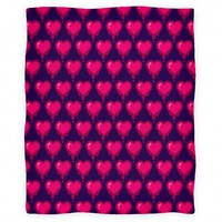 Bleeding Heart Blanket (Purple)