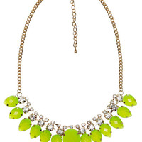 Rhinestone Glow Teardrop Necklace | Arden B.
