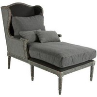Aidan Gray Furniture Havana Lounger in Grey Stripe