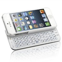 Naztech 12181 N5200 Ultra-Thin Bluetooth Slideout Keyboard for Apple iPhone 5 - Retail Packaging - White